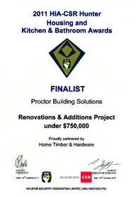 2011 HIA Hunter Finalist - Reno & Add Project under $750k